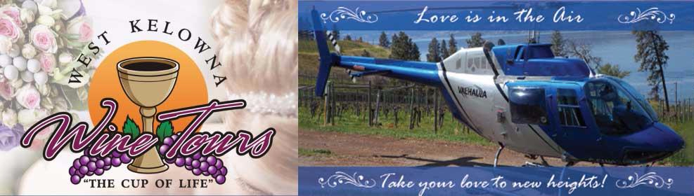 winery wedding tour helicopter